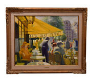 Louis Fabien Original Oil Painting Untitled With Original Frame 38x45.5 Inches