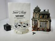 Dept 56 Snow Village Halloween Haunted Mansion Animated 54935 - Preowned