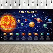 Solar System Decorations Large Fabric Outer Space Poster Banner Space Theme Back
