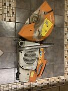 Stihl Ts 400 Cut Off / Concrete Saw For Parts Or Repair Has Low Compression