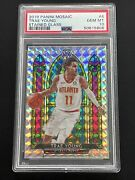 2019 Panini Mosaic Stained Glass Prizm Trae Young 4 Psa 10 Gem Mint Rare Invest