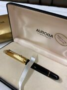 Aurora Fountain Pen Gold 14k Completed Items With Box New From Japan