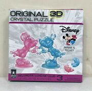 Deluxe Disney 3d Crystal Puzzle - Minnie And Mickey Mouse Heart 68 Pieces