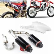 For 03-16 Honda Crf150f Crf230f Dual Sport Complete Dual Muffler Exhaust System
