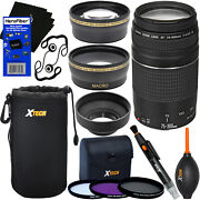 Canon Ef 75-300mm F/4-5.6 Iii Lens +13pc Kit For Rebel T6s, Xs, Xsi, Xt And Xti