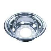 22 12 O.d. Stainless Rear Wheel Cover Only - 5 Vent Hole Hub Piloted 20354