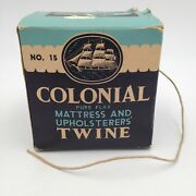 Antique Colonial Pure Flax Upholstery Mattress Sewing Twine Mib 15