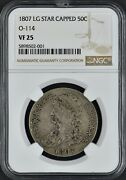 1807 Lg Star Capped 50c O-114 Vf25 Remodeled Portrait And Eagle Ngc Coingiants