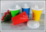 Brand New Tupperware Bell Tumblers W/sipper Seals Sippy Cups And Lids Toddler Ya2