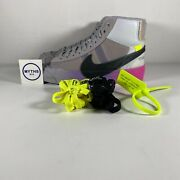 Serena Williams Off White Nike Blazer Studio Mid And039queenand039 - Size 4.5 - Aa3832 002