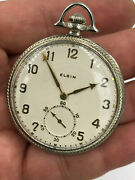 Lord Elgin Pocket Watch Corsican Model 4 14k Gold Size 12s 21jewels 1922 Working
