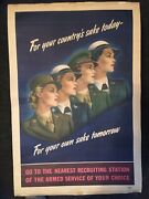The Real Thing – Not Repro - World War 2 Ii U.s. Army Recruiting Poster