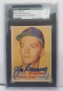 1957 Topps 338 Jim Bunning Signed Rookie Rc Auto Sgc Jsa Authentic Hof Mid Sp