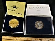 France 100th Anniversary Statue Of Liberty Gold And Silver Coins 1986 Box