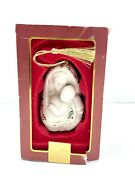 Lenox Madonna With Child Christmas Ornament Mother Baby Gold Tassel In Box