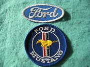 Vintage Ford Mustang Patch Set Sew On 3 X3-3 1/8x1 1/2