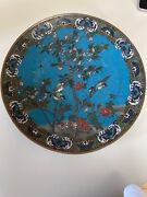 Japanese Antique Cloisonne Charger. A Large Cloisonne Charger Elaborately Work