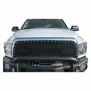 For Ram 3500 13-18 Status Grilles 1-pc Factory Style Red Mesh Main Grille
