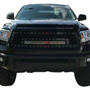 For Toyota Tundra 14-17 1-pc Blue Mesh Main Grille W 1 X 30 Led Light Bar