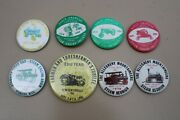 8 Steam Engine Tractor Pinback Buttons Mason Dixon Threshermanand039s Jubilee Lions