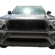 For Toyota Tacoma 12-15 Status Grilles 1-pc Charcoal Metallic Mesh Main Grille