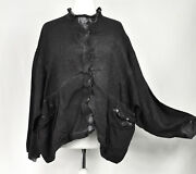 Washed Anthracite Linen Boxy Jacket By Barbara Speer One Size