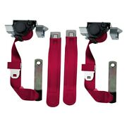Seatbelt Solutions Premium Series 3-point Front Seat Belts Maroon