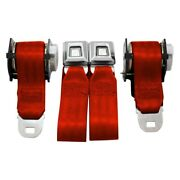 Seatbelt Solutions Standard Series 3-point Seat Belts Flame Red