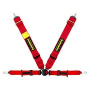 Schroth 4-point Profi Ii Asm Fe Driver Side Pull Down Harness Set Red