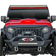 For Jeep Gladiator 20 1-pc Angry Eye Design Paintable Black Main Grille