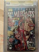 New Mutants 98 Cgc 9.8 Ss Signed Stan Lee And Rob Liefeld 1st Deadpool