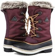 Aleader Womenand039s Warm Faux Fur Lined Mid Calf Winter Snow Boots