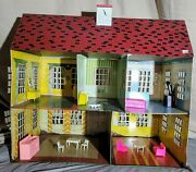 Antique 1940's Marx Tin Steel 2 Story Colonial Peter Rabbit Litho Doll House