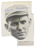 Charles Robertson Signed Magazine Clipping 1919 White Sox 1922 Perfect Game Rare