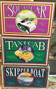 Limited 3 Zonex Lot Die-cast Metal Pedal Cars And Boat Eith Boxes And Certificates