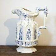 Charles Meigh Reproduction Apostle Jug Blue White
