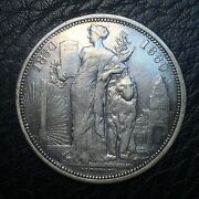 Belgium, 5 Francs 1880 Coin, Silver, Only 6714 Minted Ex-jewelry