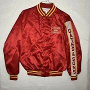 Vintage Gates And Sons Kansas City Barbecue Jacket Large Red Bar B Q Bbq