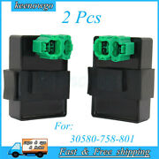 2x Cdi Box Ignition Control Module For 30580-758-801 Honda Gx640 H4518h And H5518