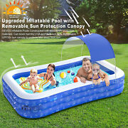 Family Kiddie Blow Up Swim Pools With Canopy Backyard Inflatable Swimming Pool