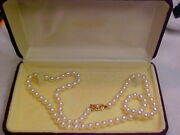 👰 Authentic Mikimoto 24 7.5mm A Grade Pearl Necklace And Case Look Awesome 💝