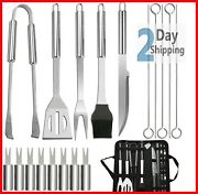 Bbq Tools Kit Set Stainless Steel Outdoor Grilling Cooking Utensil Accessories