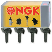 4 Pc Ngk Ignition Coils For 2003-2011 Saab 9-3 2.0l L4 Spark Plug Wire Boot Vs