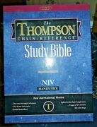 Handy Size Thompson Chain Reference Bible Kjv Black Bonded Leather In Original B
