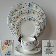 Villeroy And Boch 'mariposa' 5-pc Set Cup + Saucer + Bread + Salad + Dinner Plate