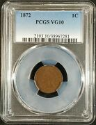 1872 Indian Head Cent Pcgs Vg10 Bold N 2103.10/38967281 Exquisite Coin Rare