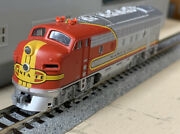N Scale Kato Santa Fe F-unit Diesel Locomotive With Knuckle Couplers.