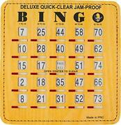 Jam-proof Quick-clear Bingo Cards With Sliding Windows 50 Cards