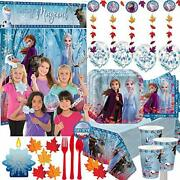 Mega Frozen 2 Birthday Party Supplies Pack For 16 With Frozen 2 Plates, Cups,