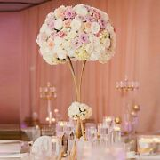 Flower Vases Gold Flower Stands Metal Centerpiece For Event Party Decoration New